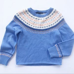 Lands End Sweater Fair Isle XS 6x Girls